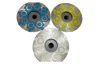 # 925 Supreme Resin Filled Stone Cup Wheels 4  Fine - Medium - Coarse Grit
