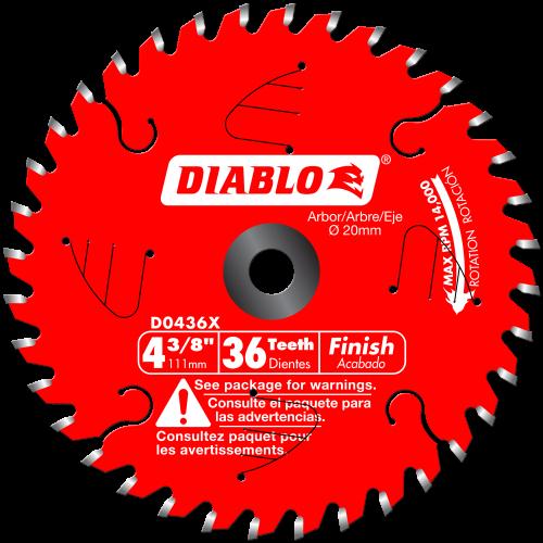 Diablo Finish Blades 4 3/8 - 8 1/4