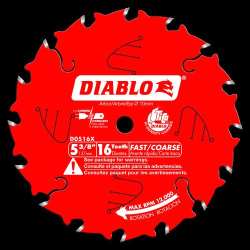 Diablo # D0518X  5‑1/2 in. x 18 Tooth Fast Framing Trim Saw Blade