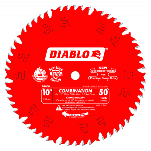 DIABLO  Combination Saw Blade  10 - 12 D1050X D1260X