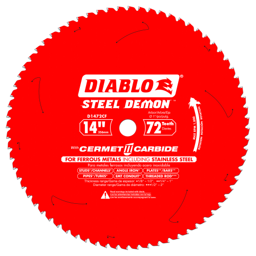 DIABLO - STEEL DEMON Medium Metal and Stainless Steel Cutting Saw Blade 14