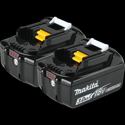 BL1830B-2 18V LXT® Lithium‑Ion 3.0Ah Battery, 2/pk