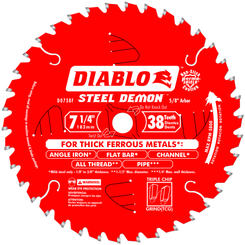 DIABLO - STEEL DEMON 7‑1/4 in.Thick Metal Cutting Saw Blade