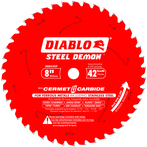 DIABLO - STEEL DEMON 8 Thick Metal and Stainless Steel Cutting Saw Blade