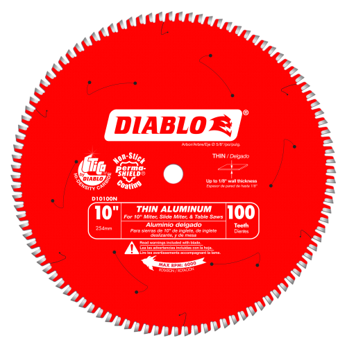 Diablo Thin Aluminum Cutting Saw Blade 10 - 14