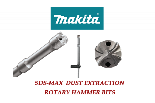 Makita SDS Max Dust Extraction Rotary Hammer Drill Bits 1/2 - 1-3/8 ( 24 L )
