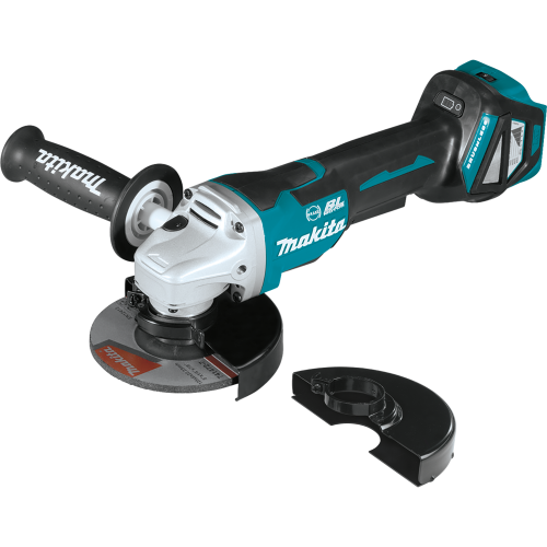 """Makita XAG21ZU 18V LXT® Lithium‑Ion Brushless Cordless 4‑1/2"""" / 5 Paddle Switch Cut‑Off/Angle Grinder, with Electric Brake and AWS™, Tool Only"""