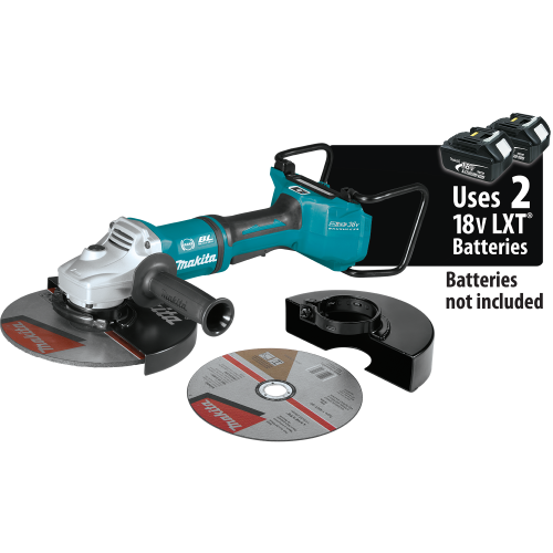 Makita XAG23ZU1 18V X2 LXT® Lithium‑Ion (36V) Brushless Cordless 9 Paddle Switch Cut‑Off/Angle Grinder, with Electric Brake and AWS™, Tool Only