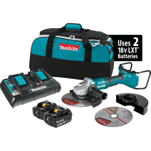 Makita XAG13PT1  18V X2 LXT® Lithium‑Ion (36V) Brushless Cordless 9 Paddle Switch Cut‑Off/Angle Grinder Kit, with Electric Brake (5.0Ah)