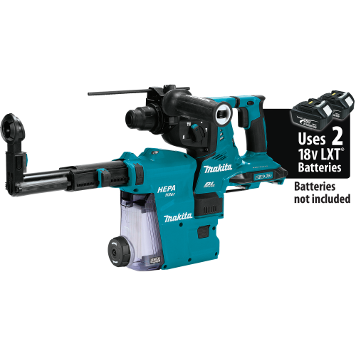 Makita XRH10ZW 18V X2 LXT® (36V) Brushless Cordless 1‑1/8 AVT® Rotary Hammer, SDS‑PLUS, w/ HEPA Dust Extractor, AFT®, AWS™ Capable, Tool Only