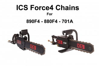ICS Force4 Chains for 890F4  880F4 & 701A Saws 10 - 25