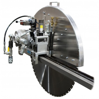 Core Cut CC1600 Auto Travel Wall Saw Package w/Stiffened Track