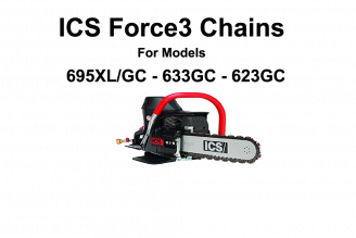 ICS Force 3 Series Chains 12 - 16 for ICS  695-633-623 (GC)