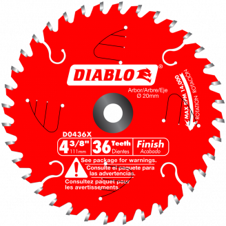 Diablo Finish Blades 4 3/8 - 8 1/4