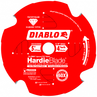Diablo HardieBlade -Fiber Cement Cutting 5 - 12
