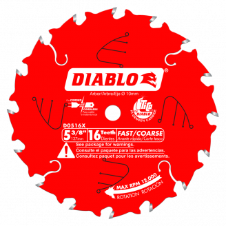 Diablo # D0518X  5‑1/2 in. x 18 Tooth Fast Framing Trim Saw Blade