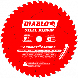 """DIABLO - STEEL DEMON 8"""" Thick Metal and Stainless Steel Cutting Saw Blade"""