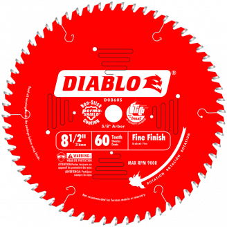 Diablo Fine Finish Saw Blade 8 1/2 - 16 5/16