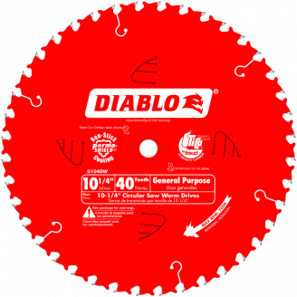 DIABLO  D1040W 10‑1/4 in. x 40 Tooth General Purpose Beam Saw Blade