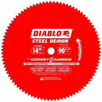 DIABLO - STEEL DEMON 14 in. x 90 Tooth Cermet Metal and Stainless Steel Cutting Saw Blade Thin Metal Cutting