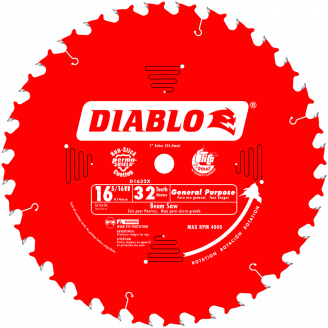 DIABLO  D1632X 16‑5/16 in. x 32 Tooth General Purpose Saw Blade