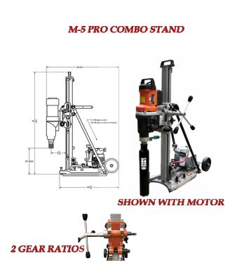 M-5 Pro Heavy Duty Combo Drill Stand 39 Mast