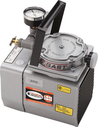 Gast Vacuum Pumps 1.8HP 24hg