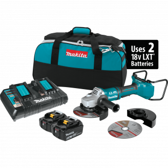 Makita XAG12PT1  18V X2 LXT® Lithium‑Ion (36V) Brushless Cordless 7 Paddle Switch Cut‑Off/Angle Grinder Kit, with Electric Brake (5.0Ah)