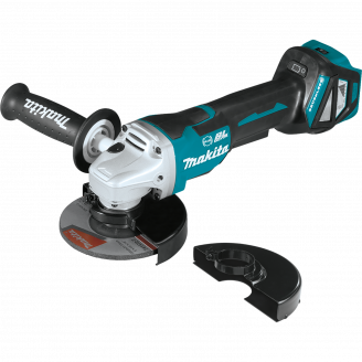 "Makita XAG21ZU 18V LXT® Lithium‑Ion Brushless Cordless 4‑1/2"" / 5 Paddle Switch Cut‑Off/Angle Grinder, with Electric Brake and AWS™, Tool Only"