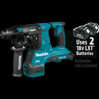 Makita XRH08Z 18V X2 LXT® Lithium‑Ion (36V) Brushless Cordless 1‑1/8 AVT® Rotary Hammer, accepts SDS‑PLUS bits, Tool Only