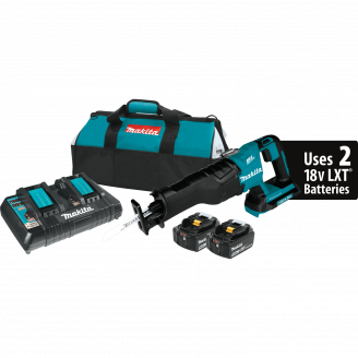 Makita XRJ06PT 18V X2 LXT® Lithium‑Ion (36V) Brushless Cordless Recipro Saw Kit (5.0Ah)