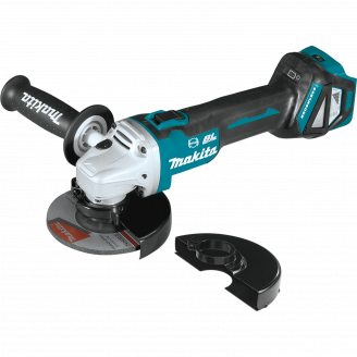 "Makita XAG16Z 18V LXT® Lithium‑Ion Brushless Cordless 4‑1/2"" / 5 Cut‑Off/Angle Grinder, with Electric Brake, Tool Only"