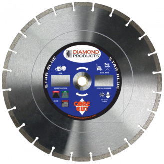 Star Blue General Purpose Diamond  Concrete Blade 14 x .125 x UNV